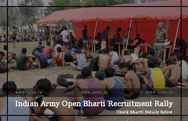 Latest Indian Army Open Bharti Rally Recruitment 2019-20