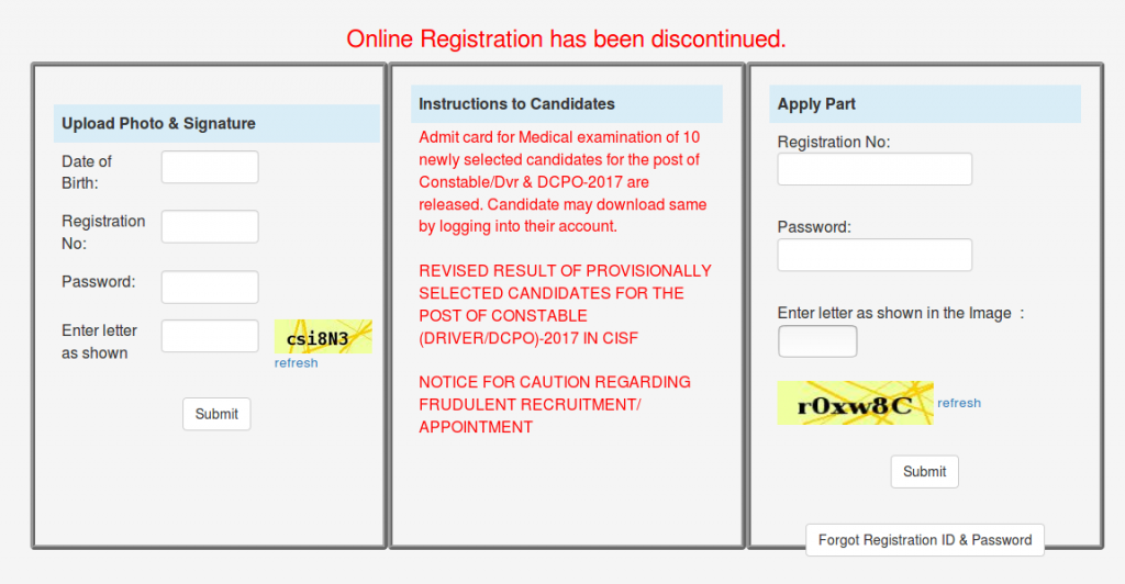crpf online form